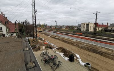 The train station of Kisvárda is being built with an all-out effort
