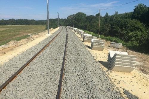 Wiederherstellung von Streckenabschnitten mit Fehlern im Bahnunterbau auf der Bahnlinie Nr. 20 Székesfehérvár – Szombathely zwischen Veszprém – Herend zwischen den Abschnitten 562-567 hm., weiterhin zwischen Szentgál – Városlőd-Kislőd zwischen den Abschnitten 687-691 hm.