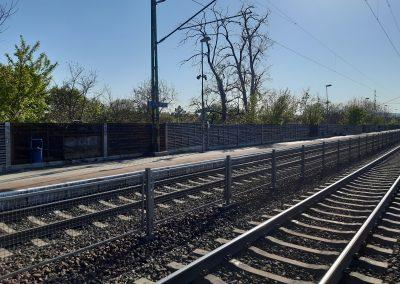 Törökbálint peronsüllyedés helyreállítása